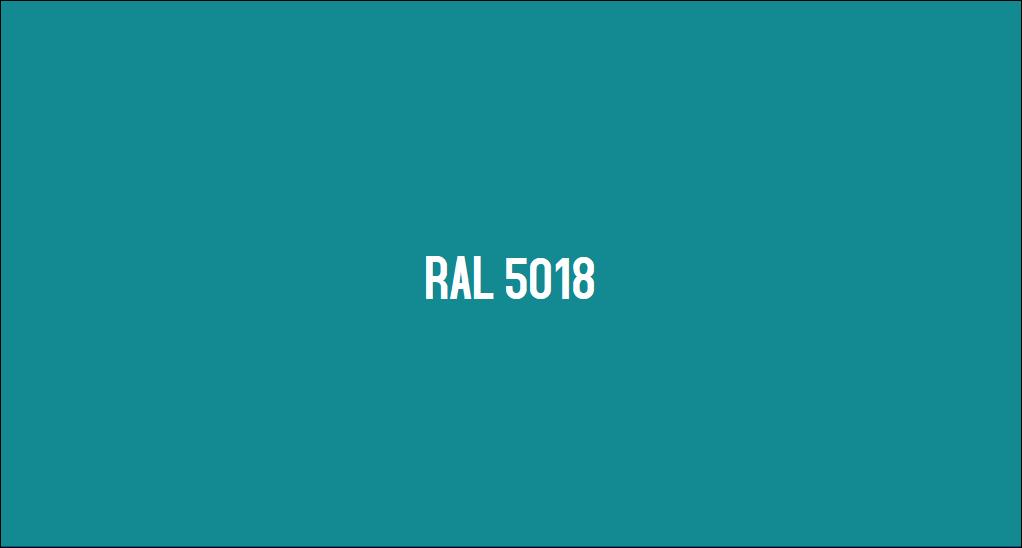Couleur Ral 5018 Bleu Turquoise Le Nuancier